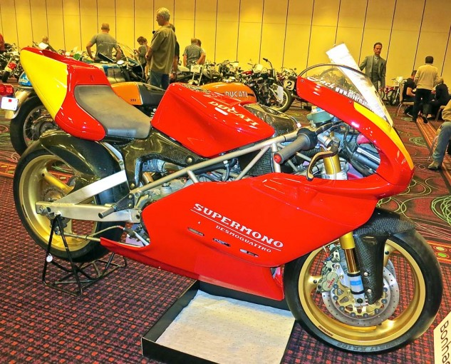 The '93 Ducati Supermono, one of 67 built for Singles racing, was posted for $150,000. No sale.