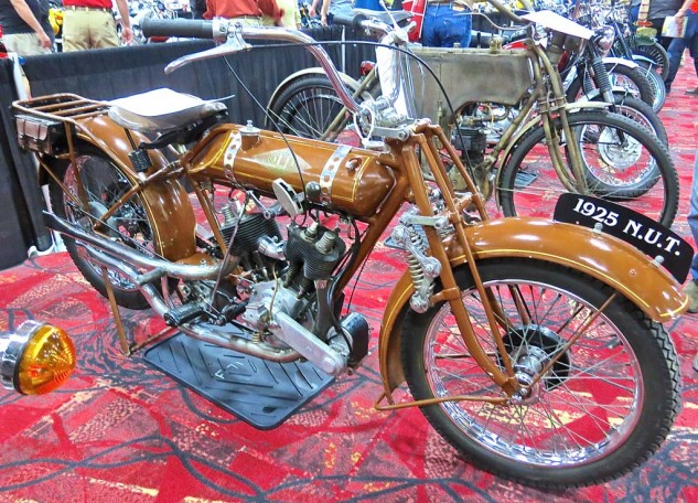 Some days you feel like a NUT. For something more than the winning bid of $30,000, you might have a 1925 N.U.T. Powered by a J.A.P. 700cc V-Twin, the marque came from the Angus Sanderson Company in Newcastle-Upon-Tyne, England. Production ran from 1911 to 1933.