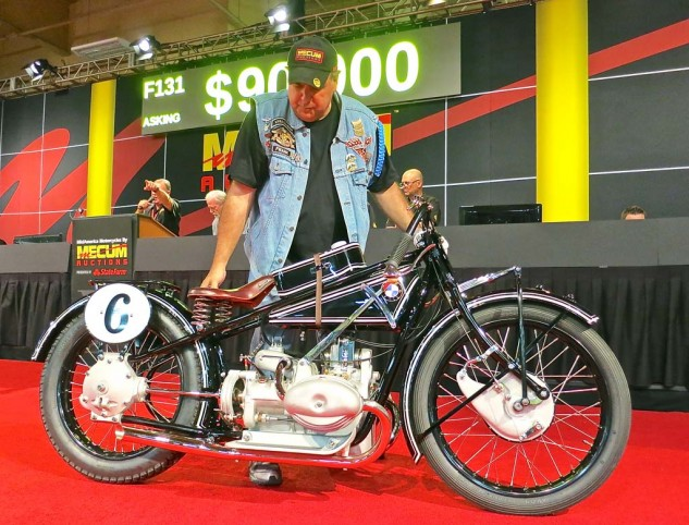 At number three on the price chart, this 1927 BMW R47 was sold for $80,000.