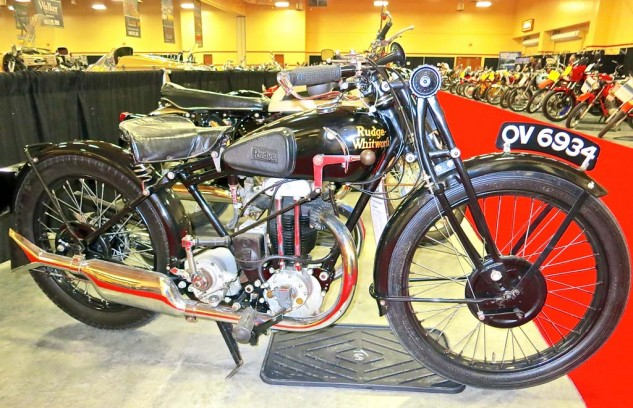 A 1920 Rudge-Whitworth Python with a J.A.P. 250 engine got to $5,000. No sale.