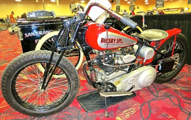 The 1936 Crocker/Bigsby flat tracker fell short at $120,000.
