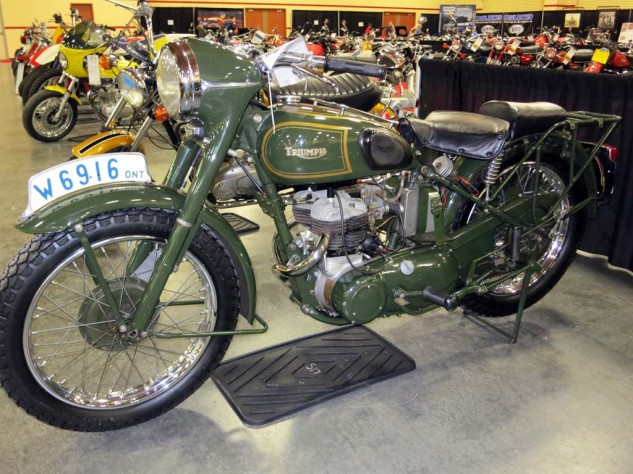 The second, from a Canadian collection, went for $7,000. The 500cc Twins never did see use in combat.