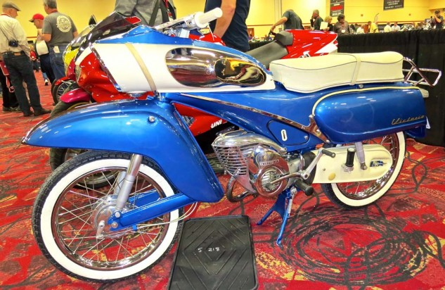 A 1962 Victoria Variant 50cc went for $16,000.