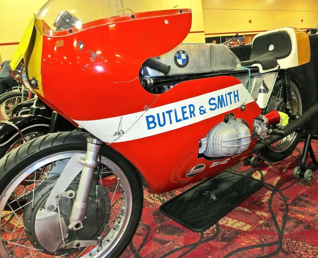 The ex-Reg Pridmore/Udo Geitel F750 BMW racer went unsold at $25,000.
