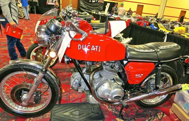 The largely original and mostly correct 1973 Ducati 750 GT sold for $22,500.