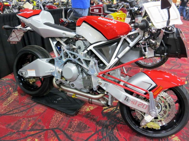 The Bimota Tesi with center-hub steering found a new home for $31,000.