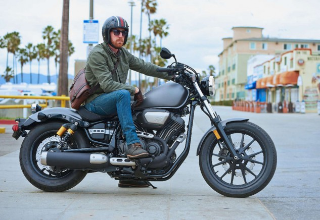 """""""Hmmm,"""" thinks Brad. """"If I sell my Iron Rangers and work an extra weekend coding, maybe I can get an Evan Wilcox tank."""" Photo: Star Motorcycles."""