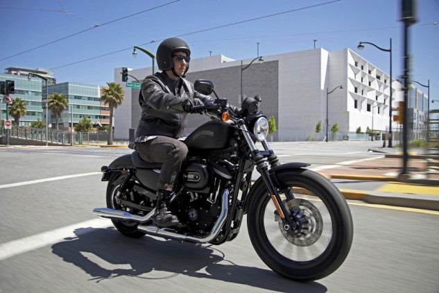 Star's hipster is better dressed, but Harley's hipster is smug in the knowledge his bike is more authentic-looking, thanks to the hidden seam on the 883 Iron's gas tank. Photo: Harley-Davidson