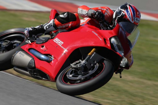 The Ducati Performance bike was also equipped with a taller windscreen that dramatically improved wind protection at speed. The stock windscreen created massive turbulence at helmet level as speeds exceeded 150 mph.