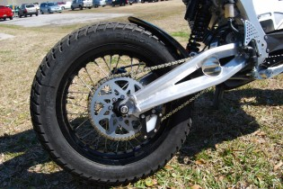 The 420-gauge chain and sprockets account for some of the operating sound of these bikes.