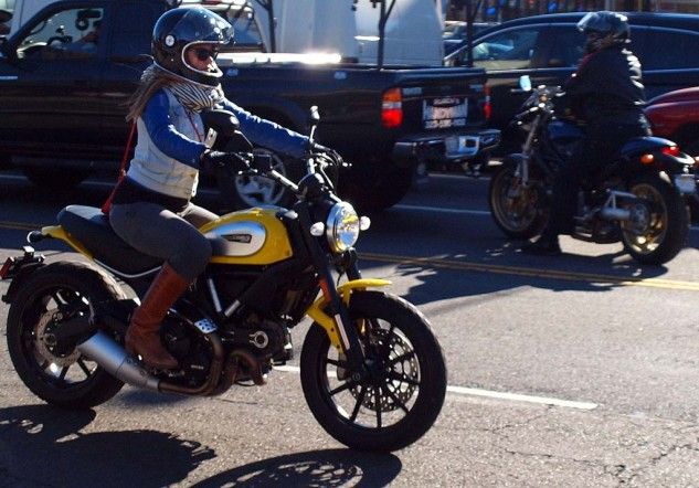Who is that masked rider on the new Ducati Scrambler?