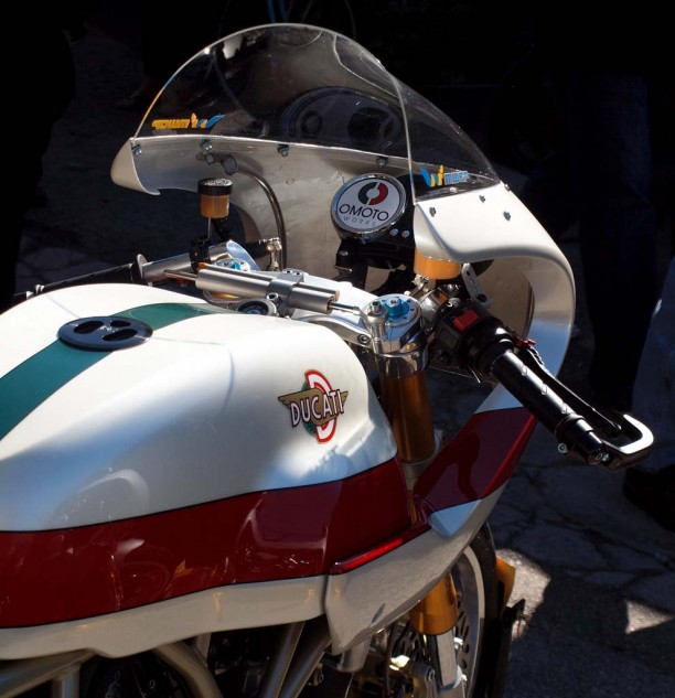 """Los Angeles based OMOTO Works refers to themselves as """"two guys in a garage."""" Thirty-four-year police veteran, John Morena, and engineer, Bill Oberman got their heads together in 2007 to build outstanding street and race modified Ducatis."""