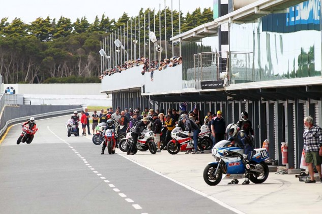 The sounds, sight and smell of TZ500s, 700s, 750s and RG500s is heaven on earth.