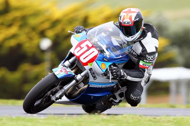 Glenn Hindle, from the famous Hindle racing family, on the stunning Team NZ Herron XR69.