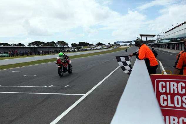 Cameron Donald taking the win. The TT hero was a crowd favorite.