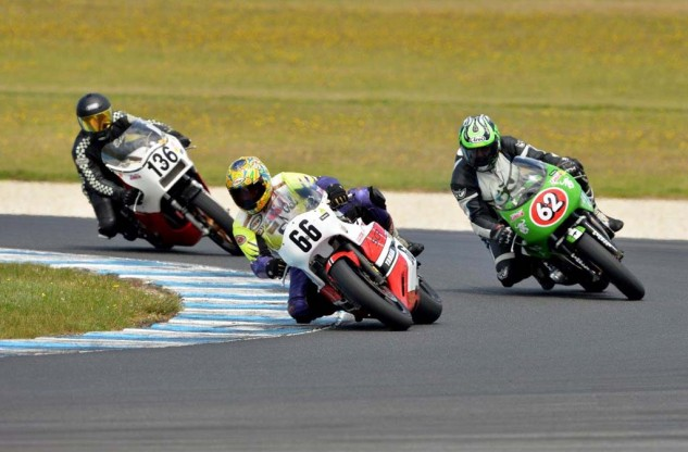Rob Mesa (66) was the best placed USA rider in race two.  Rob Ruwoldt (62) and Brian Filo (136)  Credit Deus Images.