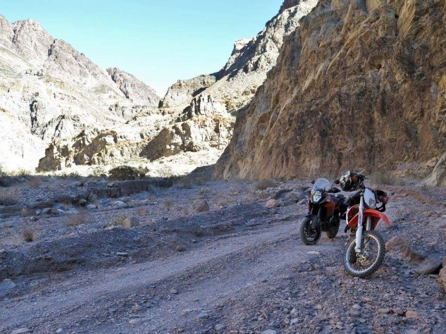 Titus Canyon was carved out by an ancient river, and at one point grows so narrow, the whole road through is one-way, east to west.