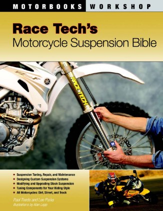 Here's another book to expand your knowledge of suspensions, this one going deeper inside. Race Tech's Motorcycle Suspension Bible comes from Race Tech's owner/engineer Paul Thede who discusses every aspect of suspension, including rebuilding them. Sharing the byline with Thede is Lee Parks, who has previously contributed to MO and runs his Total Control Riding Clinic ($34.99 from RaceTech.com).