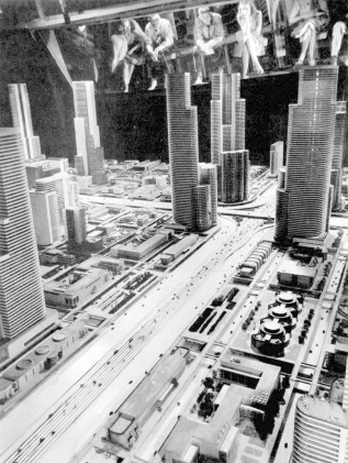 "A close-up of GM's ""Futurama"" exhibit at the 1939 World's Fair. The massive diorama, prophesying American cities in 1960, envisioned autonomous vehicles. What I want to know is this: where's my jet pack?"