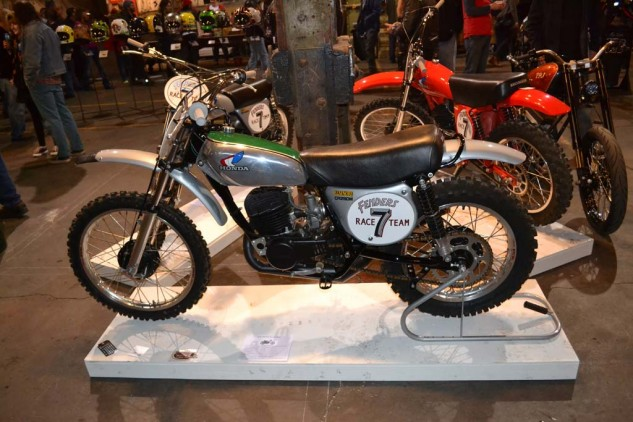 """This '73 Honda CR250M by Mike Thomas and Bob Valon was appropriately named """"Ass Kicker."""""""