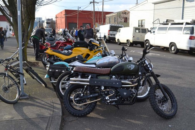 At least there are a lot of cool bikes to look at around the block during the wait.