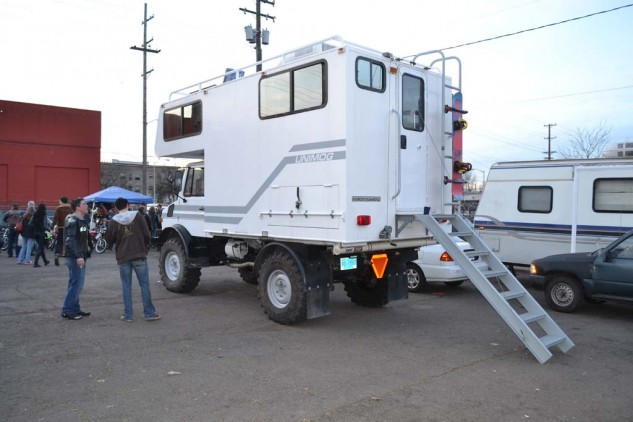 Even custom campers appeared at the show.