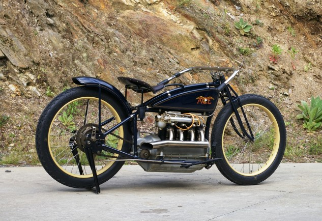 The 1923 Ace XP3 was powered by a 45 hp engine, its rods and pistons drilled for lightness.