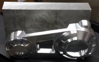 You're looking at a 75-lb block of aluminum that gets machined away until a lovely primary-drive cover emerges.