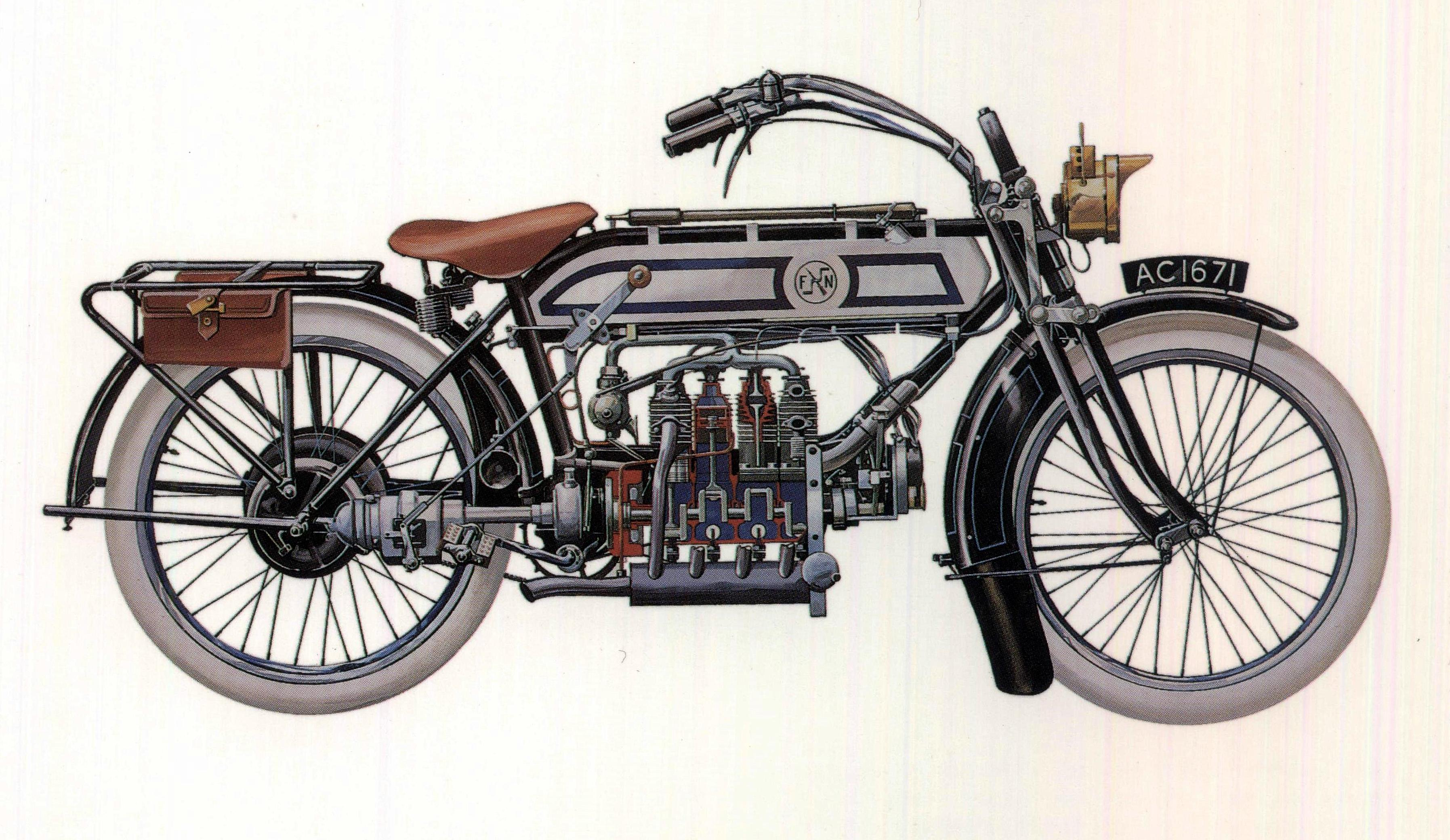 The History Of Four Cylinder Motorcycle Engines In America