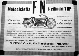 Italian Ad for Belgian FN Four