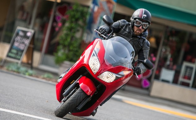The Honda Forza is right at home scooting around the town.