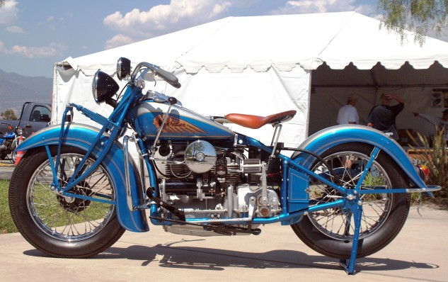 The 1939 Indian Four was still a hardtail, but it did have a fairly comfy sprung seat design.