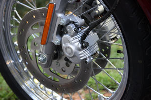 Space-age brakes.