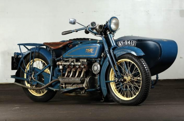 1920 Ace Four with Watsonian sidecar