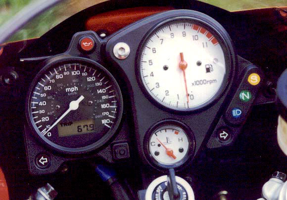 The 1998 Superhawk was a high-quality motorcycle, despite the fakery surrounding the instruments.