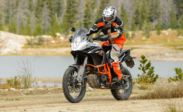 KTM's Off-road traction-control setting allows its rear wheel to spin twice as fast as the front to allow significant drifting action.
