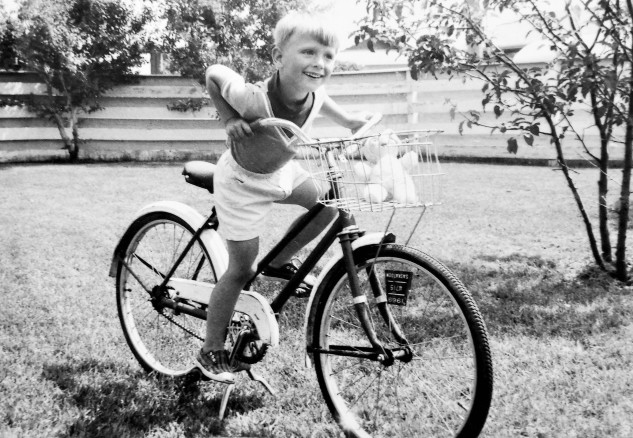 Duke on a bicycle