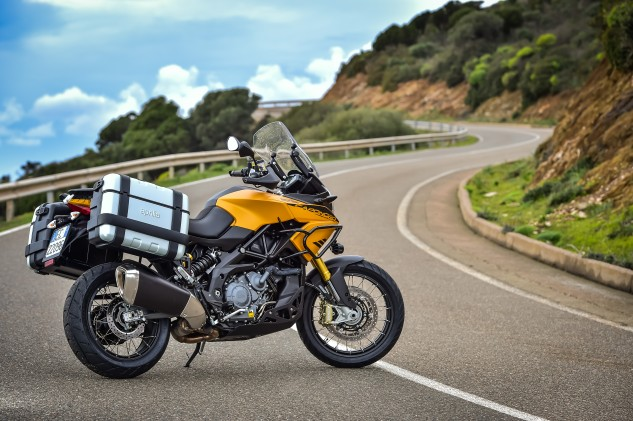The Aprilia Caponord Rally is ready for whatever adventure awaits.