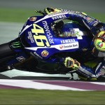Riding like a man possessed, Rossi dug deep to overcome his YZR-M1's lack of top speed, carrying immense corner speed to come from as far back as tenth to take the victory.