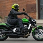Rider on Vulcan S with Sena Prism