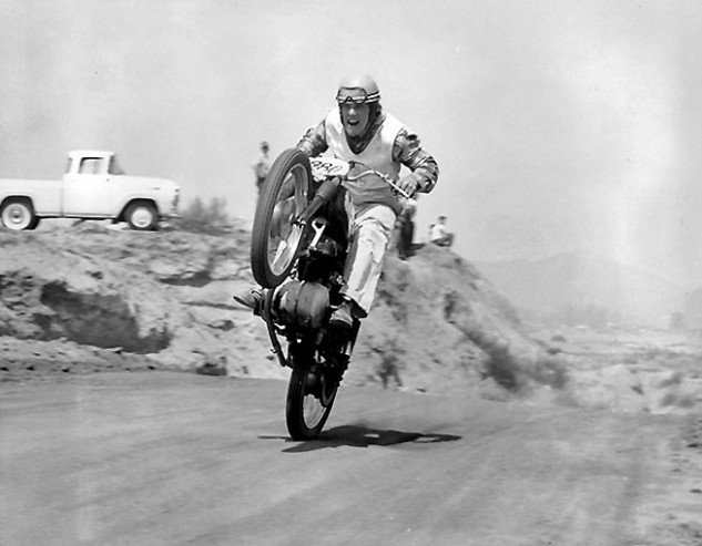 Petty rode TT Scrambles in 1957 at Perris, the very first year the track opened. Photo from Preston Petty Collection