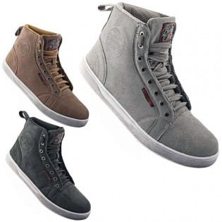 The Black Nines come in more than just black. Grey and Tan are your two other color options. The shoes do not utilize any reflective material.