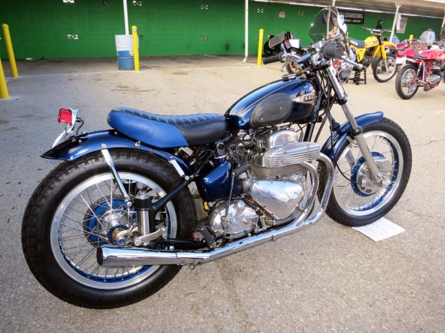 The 1953 Ariel Square Four bobber, from Frank Rositani, is a crowd favorite.