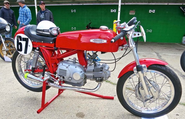 The tidy Aermacchi production racer was awarded Best something, but the reporter lost his notes.