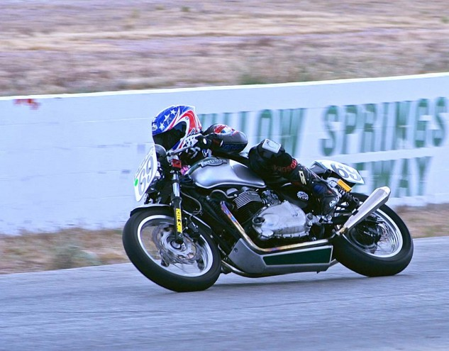 Thad Wolff also rides in the Triumph Thruxton Cup series.