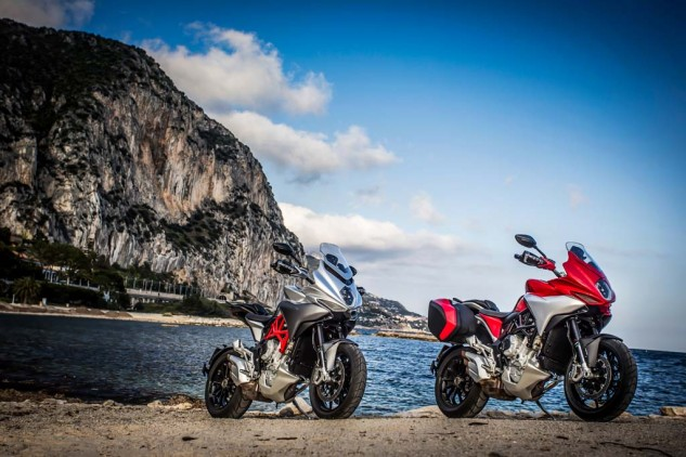 If ever there was a lanky sport/adventure tourer that felt at home on the Cote d'Azur, the MV Turismo Veloce 800 is that motorcycle.