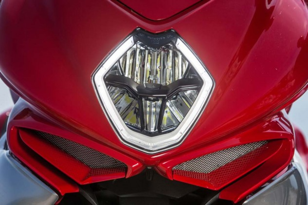 MV's striking LED halo ring acts as a daytime running light and encircles the full-LED high/low-headlight and cornering lamps.