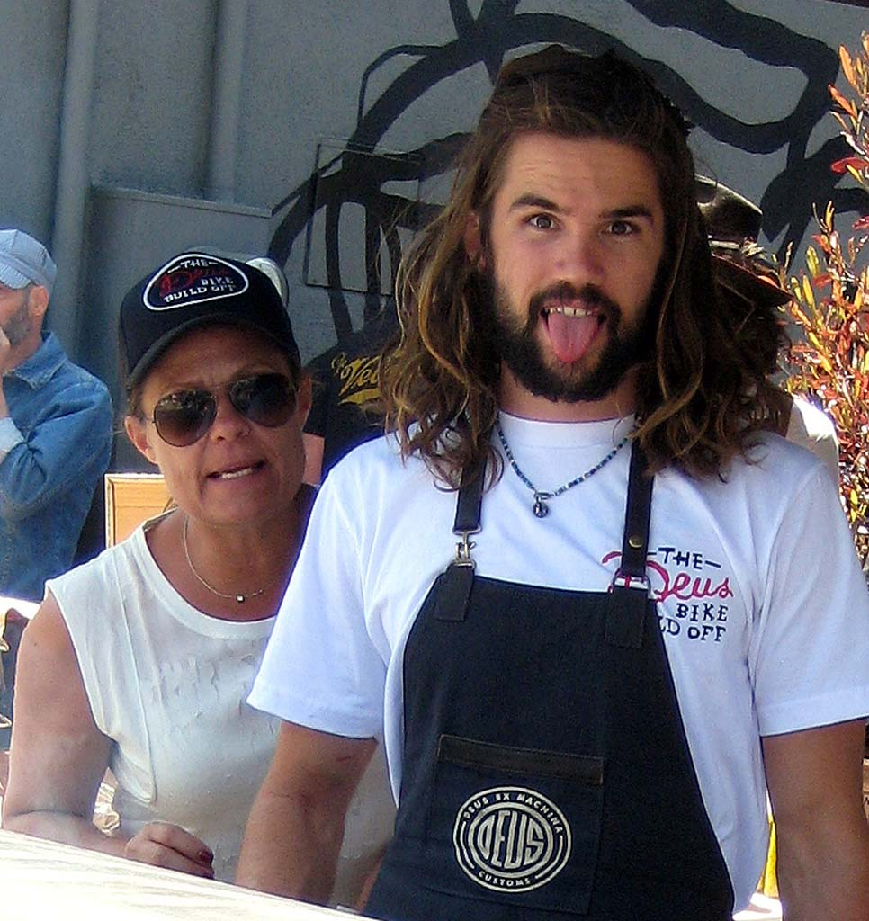 Deus crew grilled up tasty treats including their specialty, lamb chops, which they do every Saturday and Sunday.