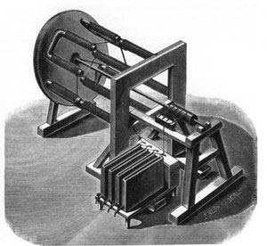 Von Jacobi's electric motor, c.1834. This design will be used in the production Harley-Davidson LiveWire for maximum authenticity.