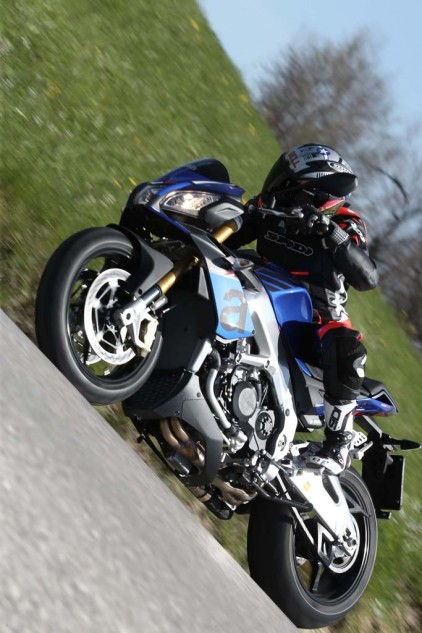 We sampled the Donington Blu version of the RR seen in these action photos, but it's a color not offered in the U.S.
